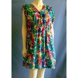 Ralph Lauren Exotic Floral Cover Up Dress 1X